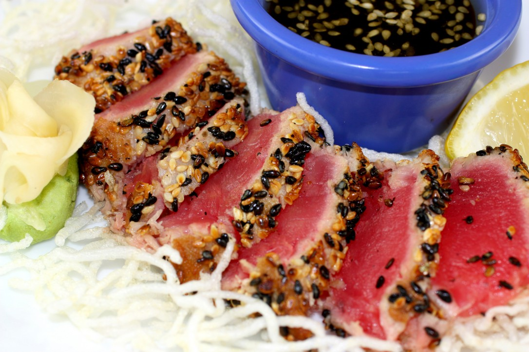 Sesame Seed Crusted Seared Ahi , Fresh Off The Hook Seafood Boise
