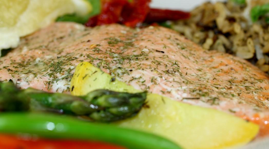 Fresh off the Hook Baked Salmon Dinner
