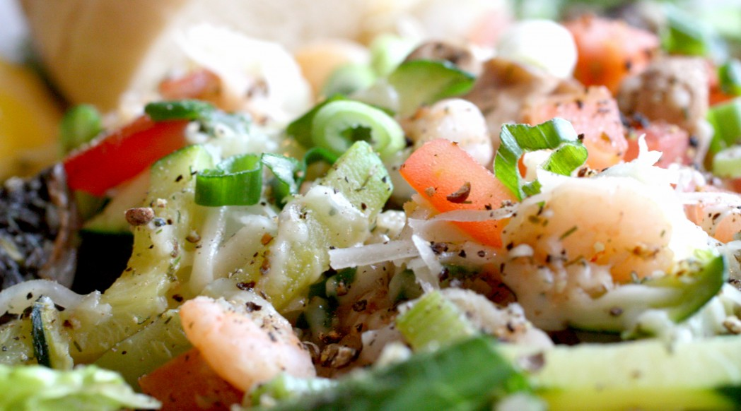 Signature Hot Seafood Salad from Fresh Off The Hook Seafood Restaurant in Boise